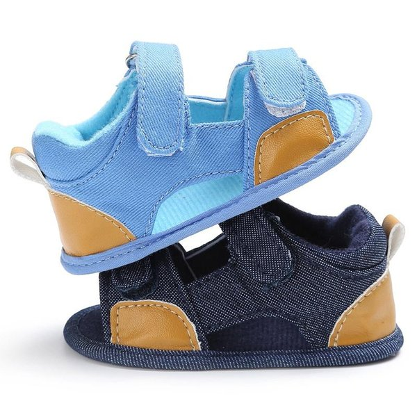 Wholesale- New New Summer Breathable Baby Boys Kids Splice Color Hollow Out Anti-skid Casual Baby Canvas Cack Shoes P1
