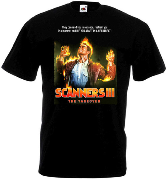 Tee Shirt Design Casual Men O-Neck Scanners 3 The Takeover T-Shirt Black Movie Poster All Sizes S To 3XL Short-Sleeve Tee Shirts