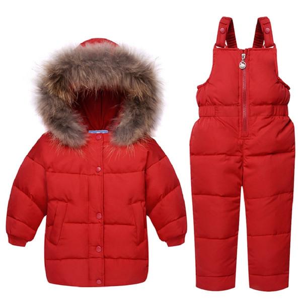 06bd59bb0fbe Winter Baby Boy Clothing Set Duck Down Children Jacket Boy Coat ...