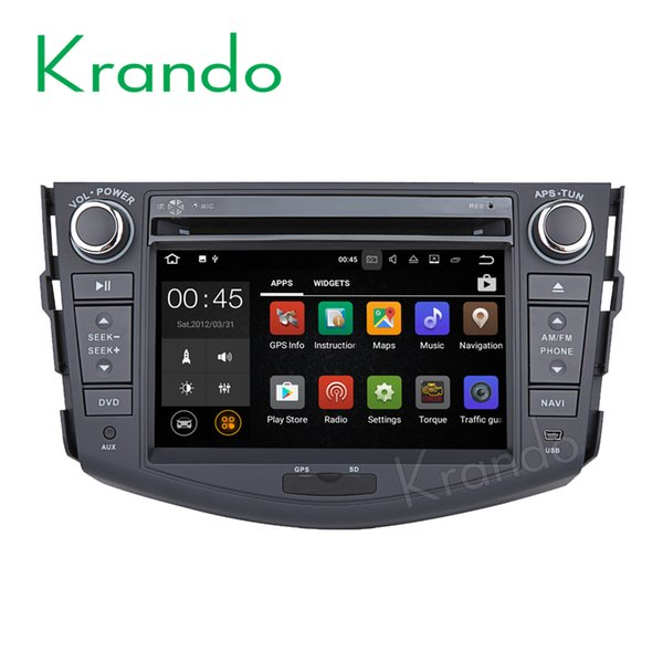 "Krando 7"" Android 8.0 car dvd player gps navigation multimedia system for Toyota RAV4 2006-2012 audio radio entertainment OBD2"
