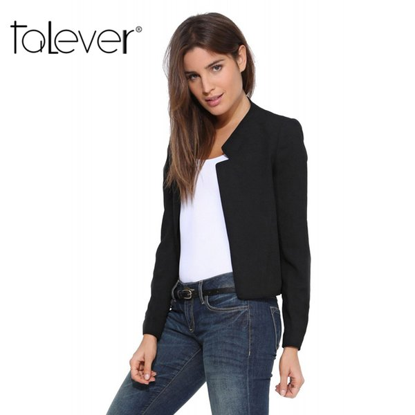 2017 Spring Autumn New Fashion Women's Short Blazer Coat Candy Color Casual Suit Blazer and Jacket Solid Slim Female Blazers S18101305