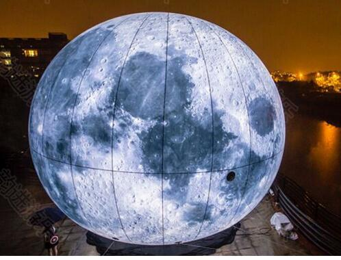 best selling fast shipping 1M Led Lighted Inflatable Moon Ball for Outdoor Promotion