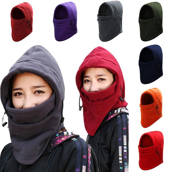 Winter Cycling Training Face Mask Warm Fleece Windproof Thermal Sport Snowboard Bike Bandana Bicycle Cap Skiing Hats