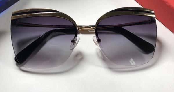 Occhiali da sole di lusso 166 per unisex Design ovale Protezione UV Lenti a specchio Lenti a specchio Colore placcato telaio Vieni Con Pacchetto