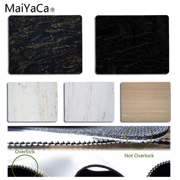 MaiYaCa Marble Texture Anti-Slip Durable Silicone Computermats Size for 25x29CM Speed Version Gaming Mousepads