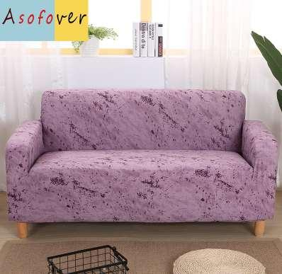 Tremendous Pure Color Purple Sofa Cover Elastic Sofa Slipcover Stretch Furniture Covers Protector Sofa Covers For Living Room Couch Dining Armchair Slipcovers Ibusinesslaw Wood Chair Design Ideas Ibusinesslaworg