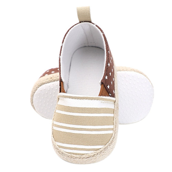 WEIXINBUY Baby First Walkers Boy Girl Stripe Printed Stars Casual Shoes New Fashion Lazy Shoes Baby Toddler