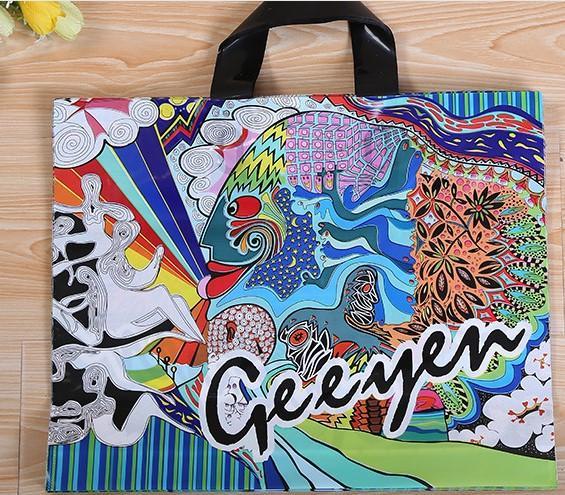 Красочные Феникс китайский стиль одежды подарок пластиковые сумки мода мужчины и женщины мягкий сумка 33 см * 25 см + дно 6 см