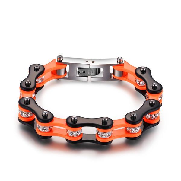 SDA wrap 316L Stainless steel bangles charm winter bracelet For Femal jewelry Orange Black with shiny stone unique style YM014