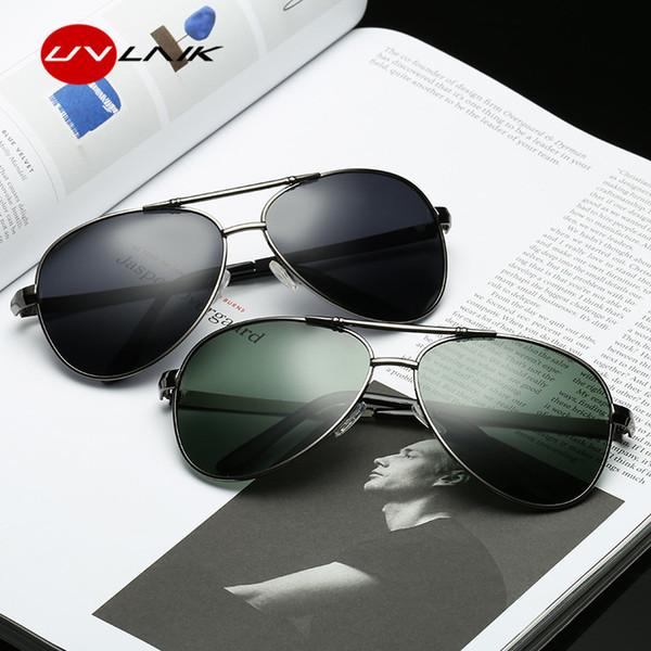 UVLAIK Pilot 100% Polarized Sunglasses for Men Driving Glasses Men's HD UV400 Vintage Sport Sun glasses Women Brand Designer