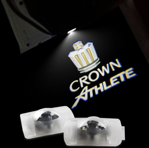 2pcs/set LED Car door Welcome laser projector Logo Ghost Shadow Light For Toyota Crown 2005-2013
