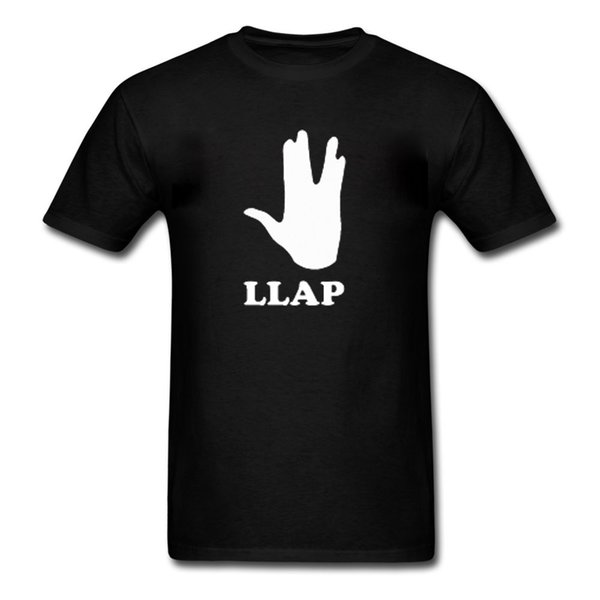 LLAP - Star Trek Spock Inspired Quote - Novelty Mens Shirt - Great Gift Idea Cartoon t shirt men Unisex New Fashion