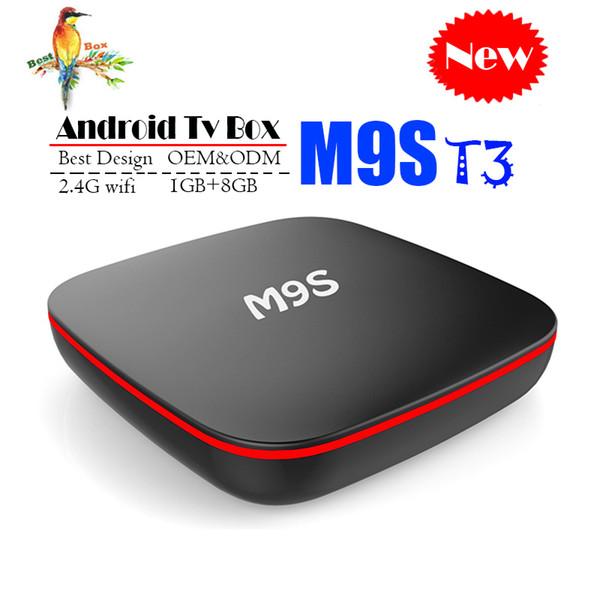 Best M9S T3 Allwinner H3 1G 8G Android 7.1 TV BOX Quad Core Ultra HD H.265 4K Stream Media Player Better Amlogic S905W H96 TX3 X96 mini 4K