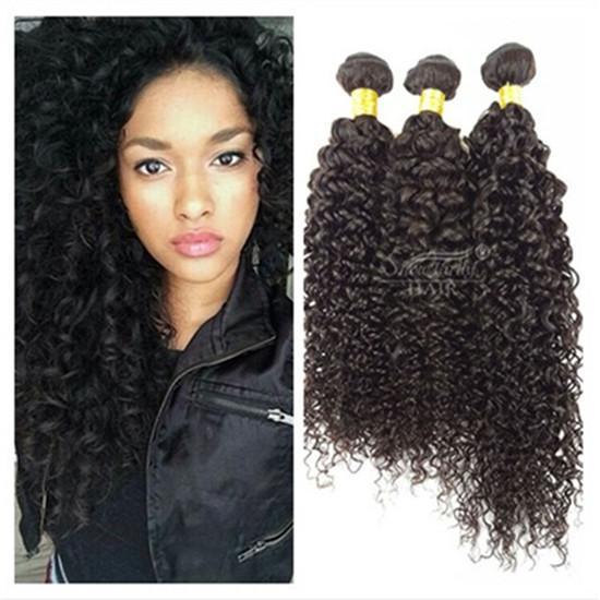 Venta al por mayor 9A Indian Virgin Curly Weave 3 Bundles 100g / pc Barato 100% extensiones de cabello humano Remy sin procesar (8 10 12 pulgadas)