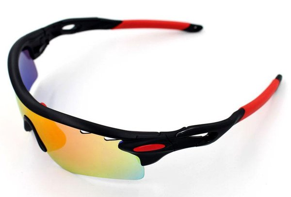 Polarized Brand Cycling Sunglasses Racing Sport Cycling Glasses Mountain Bike Goggles Interchangeable 5 Lens RADARLOCKS Cycling Eyewear