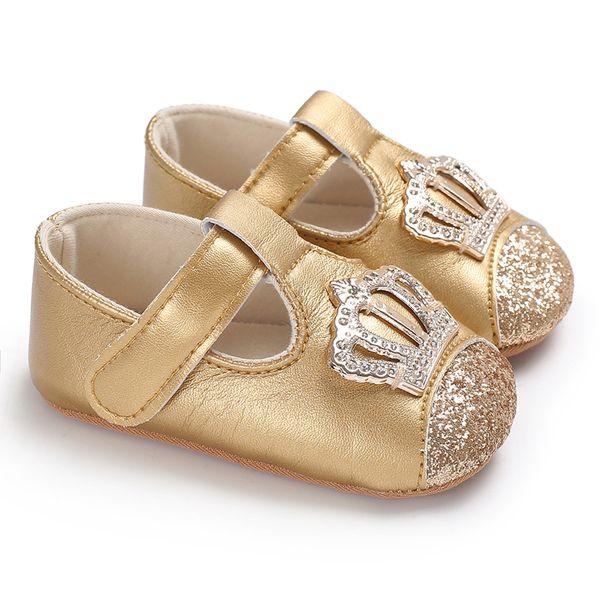 2018 Adela Flower 0-18M Sequin Baby Girl Shoes Soft PU Baby Moccasins Princess Shoes Toddler Prewalker Newborn Girls