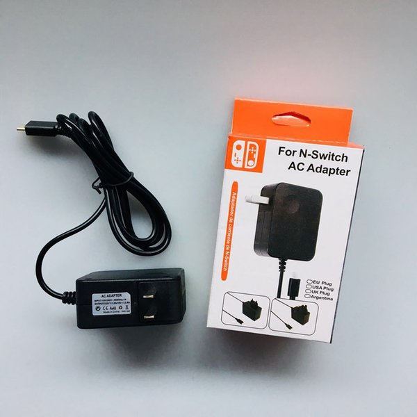 best selling AC Adapter Travel Wall Charger Power Supply for NS Switch and Pro Controller 15V 2.6A Fast Charging Kit DHL FEDEX EMS FREE SHIPPING