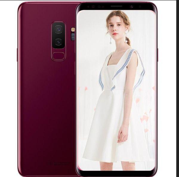 ERQIYU goophone 9 S8+ android 7.0 cell phone unlocked MTK6592 Octa core 4G RAM 64G ROM shown 4G LTE GPS 3G smartphones