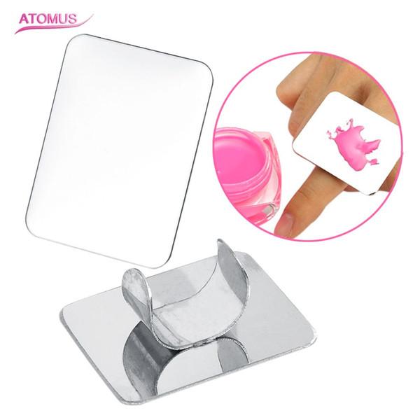 Imagic Nail Art Palette Cosmetic Makeup Palette Mixing Ring Set Acero Inoxidable para Mezclar Pintura Base de Sombras Correctores
