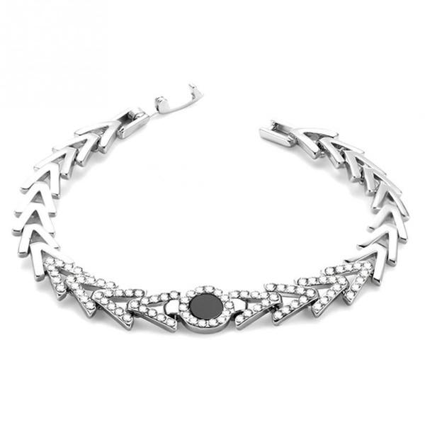 Japan Korea Style Fashion Woman Alloy Rhinestones Nabla Belt Bracelet Simple Jewelry Accessory Metal Trendy Bracelets Jewellery