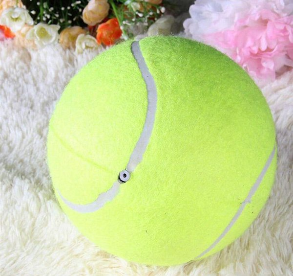 30pcs 24CM Big Inflatable Tennis Ball Dog Chew Toy 9.5inch Giant Pet Toy Mega Jumbo Kids Toy Ball Outdoor Supplies