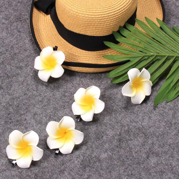 2018 Hot sale Lao national flower Plumeria hairpin hair clips for women and girls Free Shipping