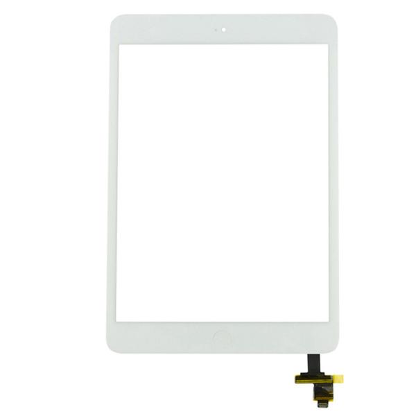 350 pcs dhl livre (testado) para ipad mini 2 mini 1 A1432 A1454 A1455 A1489 A1490 A1491 Painel Digitador Da Tela de Toque Outer Vidro + IC + Botão