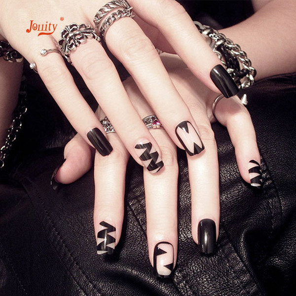 24 Pcs Acrylic Boxed Round False Nails Finished Manicure Nail Tips Fashion Long Extension Patch Art Design Artificial Fake Nails