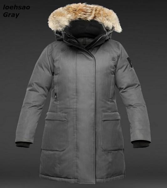 New preto azul branco vermelho cinza mulheres inverno para baixo jaquetas mulheres casaco de inverno 90% branco para baixo espessadas à prova d 'água à prova de vento de pele com capuz longo parkas