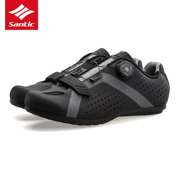 wholesale Men Pro Cycling Shoes 2018 New Tour de France Road Bike Shoes Rubber Anti-slip Unlocked Bicycle Shoes Zapatillas Ciclismo