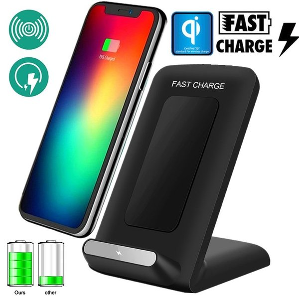 Wireless Charger Qi Cellphone Charging Dock Pad for iPhone 8//X Galaxy S//8,Note