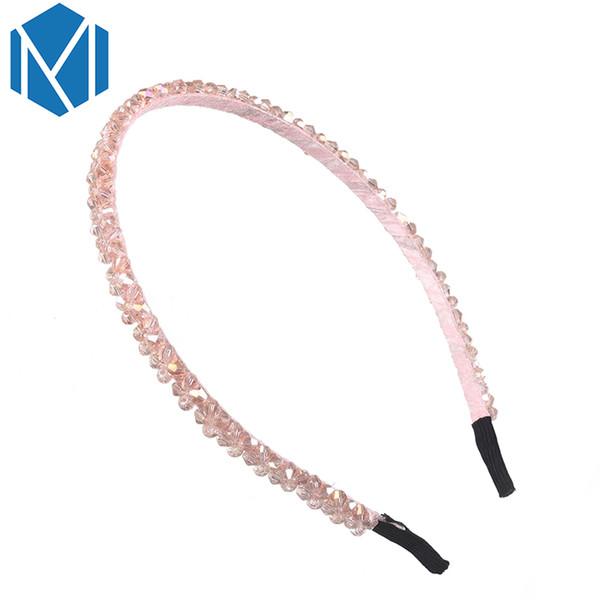 M MISM Women Crystal Metal Hair Bands Wedding Bridal Headwear Girls Rose Gold Rhinestone Hair Accessories Delicate Hair Hoop