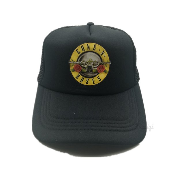 Men Women Cool Rock Music Trucker Mesh Caps Guns N' Roses Cap Women Men G N' R GnR Fans Cap Rock Music Band Fans Hat