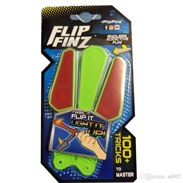Flip Finz Revolving Butterfly Knifes LED Light Up Practical Fingertip Toy Fidget Spinner Essential Tool Rotatable Small Novelty 12xc cc