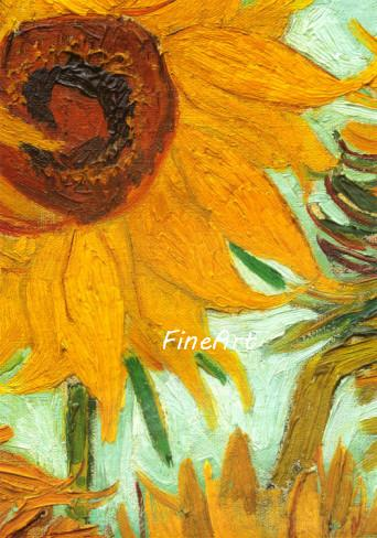 hand-painted on canvas van gogh sunflowers canvas paintings reproduction decorative wall pictures unique gift Kungfu Art