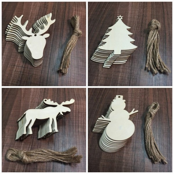 Angel Shaped Christmas Tree.Novelty Wooden Crafts Elk Snowman Christmas Tree Angel Shaped Pendant Set For Festive Party Ornament New Arrival 4jw Bb Cheap Xmas Decorations Cheap