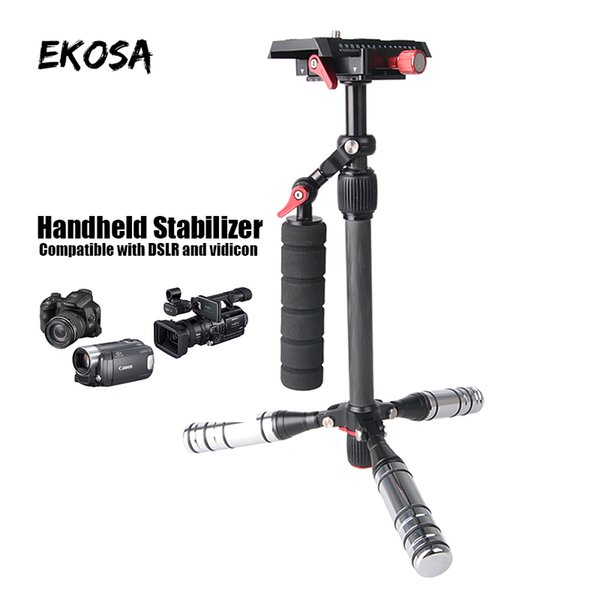 Handheld Stabilizer Tripod Camera Stand Monopod Professional For DSLR Aluminum Single Hangdgrip for steadicam smooth gimbal