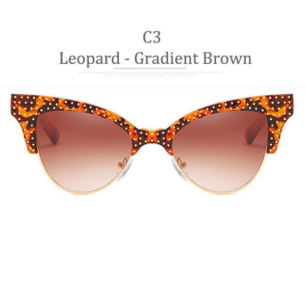 C3 Leopard Frame Gradient Brown