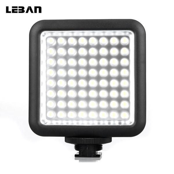 Atacado led64 led de vídeo led lâmpada para câmera dslr filmadora mini dvr como luz de preenchimento para a fotografia de casamento entrevista macro fotografia