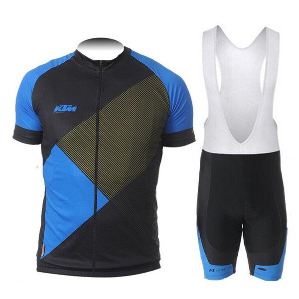 2018 KTM Tour De Italy summer Men Cycling Short Sleeve Jersey shirt MTB Bike clothes bicycle Bib Shorts Set Clothing maillot Ropa Ciclismo