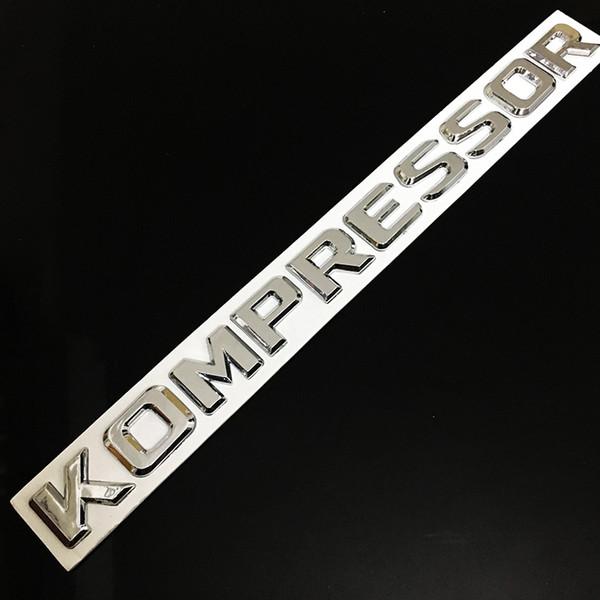 Silver Metel 3D KOMPRESSOR Car stickers Logo Emblem Badge Truck Auto Motor Decal for benz C200 C180 V12 V8