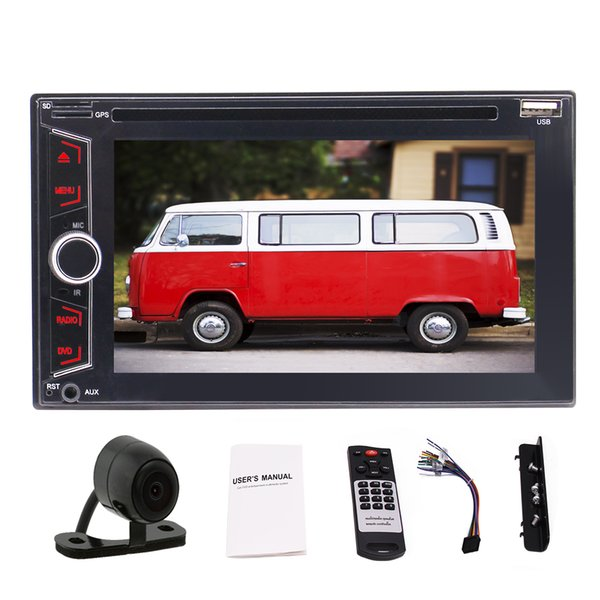 6.2'' In-dash Audio (no GPS Navigation) Double 2 Din Bluetooth Car Stereo In Dash Video Auto radio car DVD/CD Player+Backup Camera+Remote