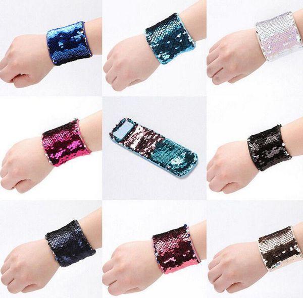 best selling Mermaid Sequin Bracelet Wristband Cuff Sequins Bracelets Women Charm Jewelry Girl Wedding Favors Mermaid Bracelet Wristband Bangle