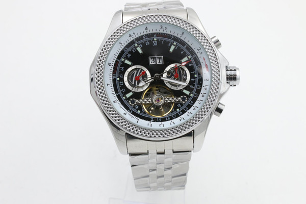 good quality 1884 date automatic mechanical new brand men watch stainless steel wristwatch men's Watche