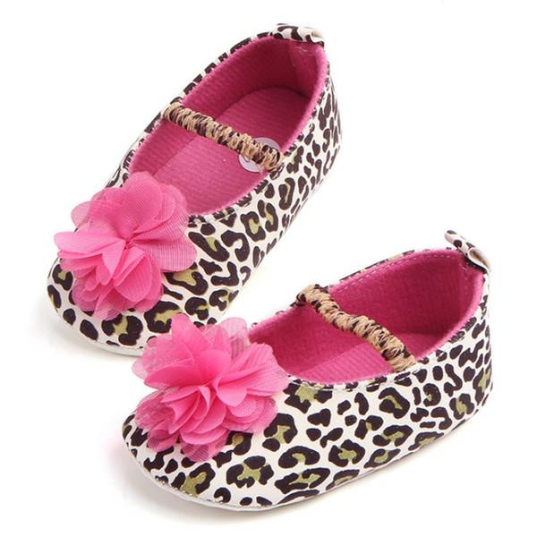 Spring Baby Shoes First Walkers Infant Toddler Big Flower Leopard Spring Shoes Prewalker 2017 New 1