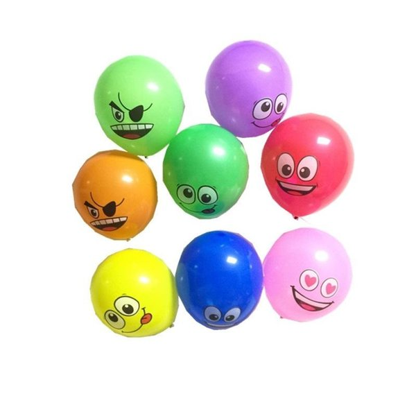 Kawaii Smiling Face Balloon Cartoon Design Air Balloons Cute Emoji Printing Colorful Wedding Party Decorations Many Colors 14xh ZZ