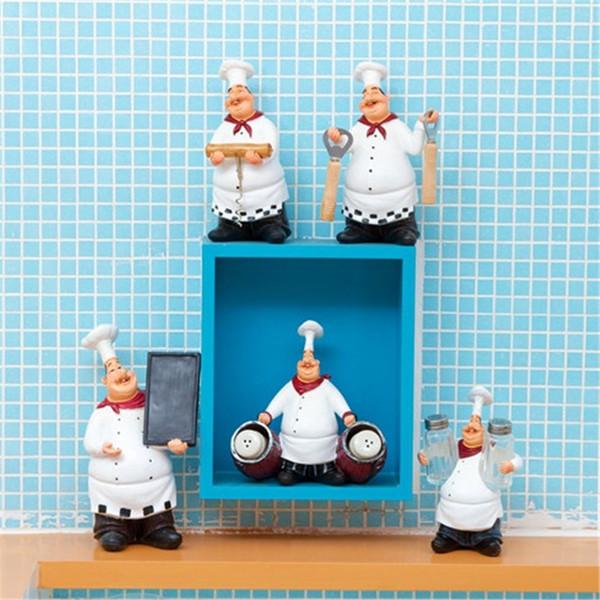 Pays américain rétro chef propose décoration, maison restaurant bar café décoration de mode, décoration personnalisée résine chef artisanat