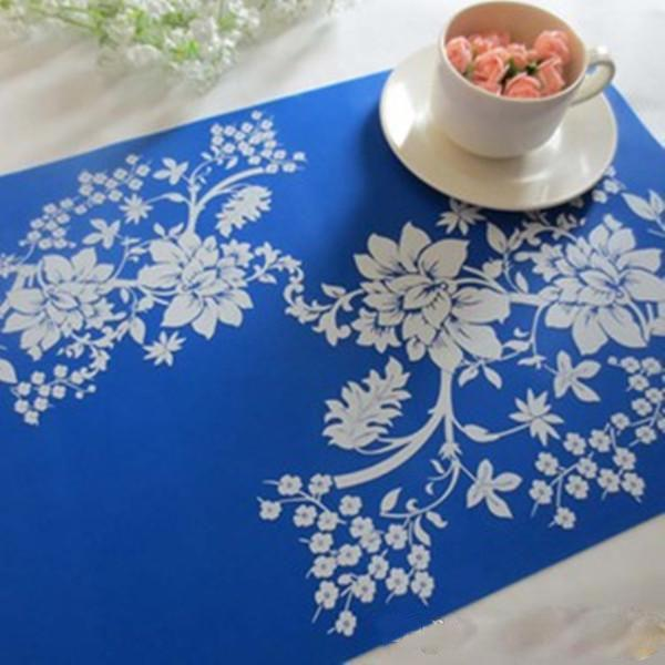 Print PP Wholesale-Placemat Fashion Dining Table Mat Disc Pads insulation place mat Pad Coasters Table Cloth Pad Slip-resistant Pad