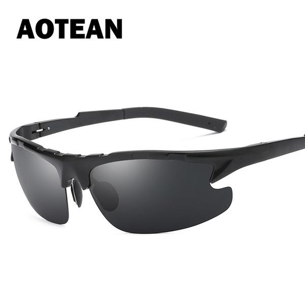 AOTEAN Brand New Men's Polarized Sunglasses Classic Driving Fishing Glasses Goggles Male Pilot UV400 Eyewear Gafas 8123