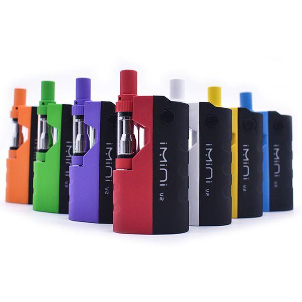 100% Original Imini V II Thick Oil Cartridges Starter Kit 650mAh Box Mod Battery 510 Thread Liberty V1 Tank Atomizer Vape Pen Starter Vapor